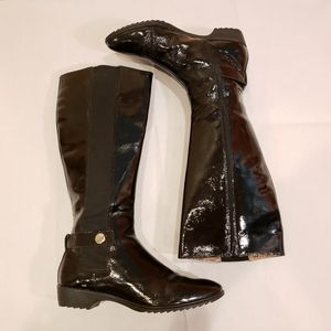 Sofft Black Patent Leather Boots Size 6